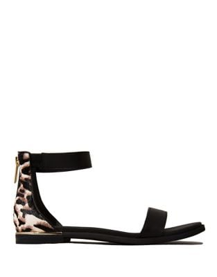 Cambelle 2 Structured Calf Hair Sandals by Yosi Samra