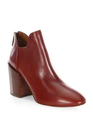 Francesca Leather Booties by Aquatalia