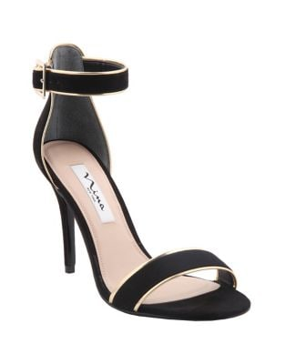 Caela Two-Tone Ankle-Strap Sandals by Nina