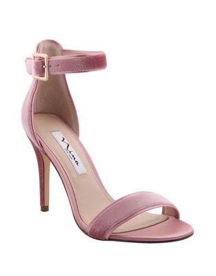 Caela Velvet Ankle-Strap Sandals by Nina