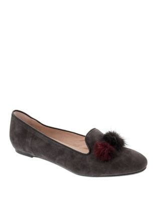 Wallis Pom Pom Suede Loafers by Patricia Green