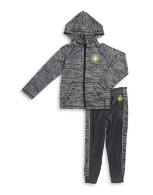 Little Boys TwoPiece Athletic Hoodie  Brushed Tricot Jogger Pants Set