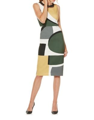 Geometric Midi Dress by Laundry by Shelli Segal