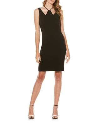 Tonal Stitched Sheath Dress by Laundry by Shelli Segal