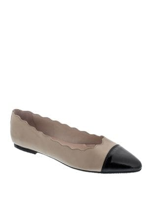 Suzanne Leather Ballerina Flats by Patricia Green