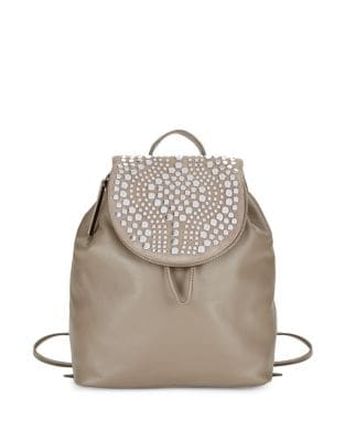 Studded Leather Backpack...