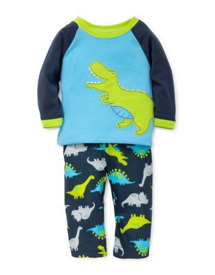 Little Boys Dino Printed Pajamas
