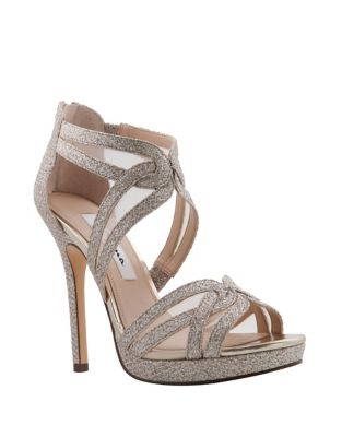 Fayette Mesh Glittered Sandals by Nina
