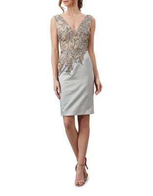 Studded Knee-Length Dress by Mandalay