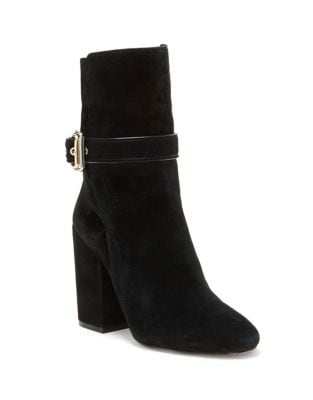 Damefaris Buckled Leather Mid-Calf Boots by Vince Camuto