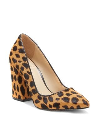 Talise Flared Calf Hair Pumps by Vince Camuto