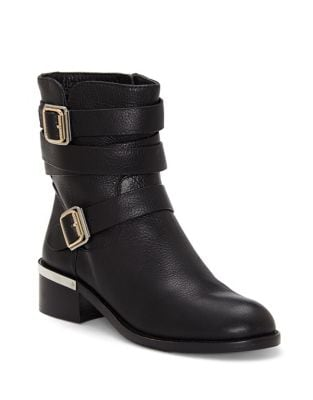 Webey Leather Ankle Boots by Vince Camuto