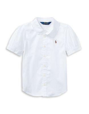 Little Girls Oxford Cotton ButtonDown Shirt