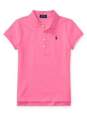Embroidered Mesh Polo