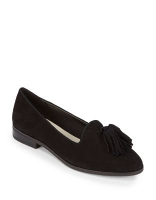 Devina Tasseled Suede Loafers by Anne Klein