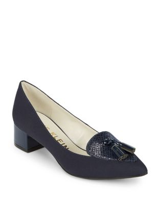 Mina Tasseled Textile Pumps by Anne Klein