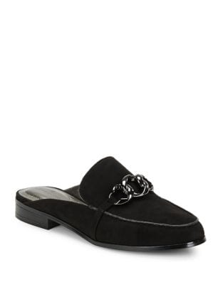 Limbs Microsuede Buckle Mules by Bandolino