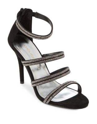Immense Embellished Suede Dress Sandals by Caparros