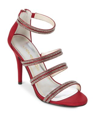 Immense Embellished Satin Dress Sandals by Caparros