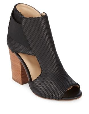 Maddy Leather Peep Toe Booties by Botkier New York