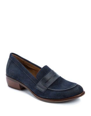 Round Toe Leather Penny Loafers by Latigo