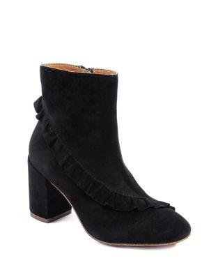 Kahlia Suede Ruffle Booties by Latigo
