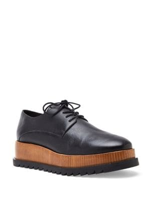 Leather Platform Creeper Derby Shoes by Matisse