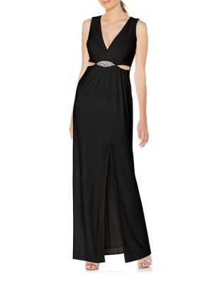 Front Slit Shift Gown by Laundry by Shelli Segal