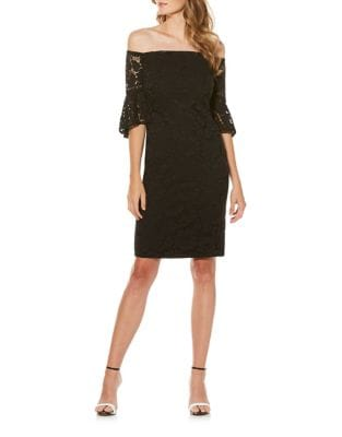 Off-the-Shoulder Floral Lace Dress by Laundry by Shelli Segal
