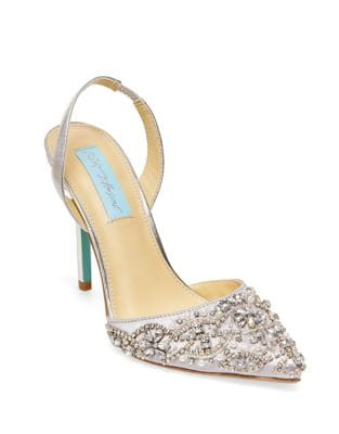 Blue by Betsey Johnson Embellished Pointed Sandals by Betsey Johnson