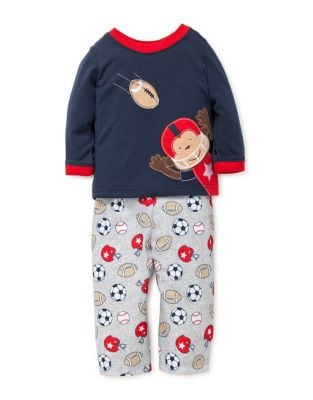 Little Boys Sports Printed Pajamas