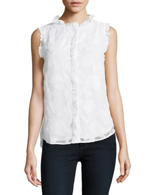 Sleeveless Ruffled Top...