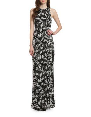 Veronica Floor-Length Sleeveless Dress by Belle Badgley Mischka