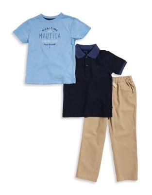 Boys Maritime Tee Polo and Pants Set