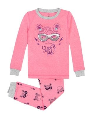 Little Girls TwoPiece Knitted Pajamas
