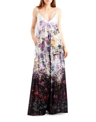 Floral V-Neck Maxi Dress by Nicole Miller New York
