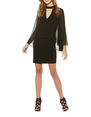 Mockneck V-Front Dress by Laundry by Shelli Segal