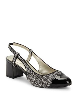 Oanez Tweed Slingback Pumps by Bandolino