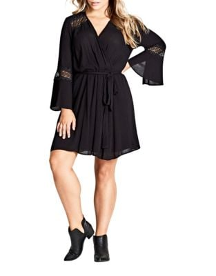 Plus Zippered Mini Dress by City Chic