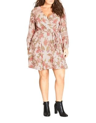 Plus Gypsy Floral Dress by City Chic