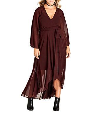 Plus Chiffon Hi-Lo Dress by City Chic