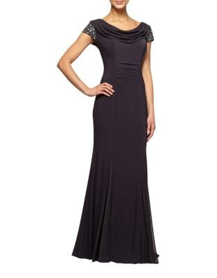 Petite Floor-Length Gown by Alex Evenings