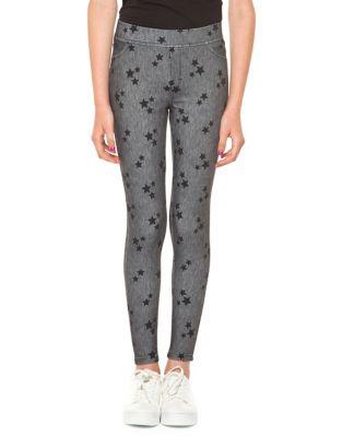 Girls Star Print Leggings