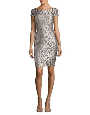 Embroidered Sheath Dress by Calvin Klein