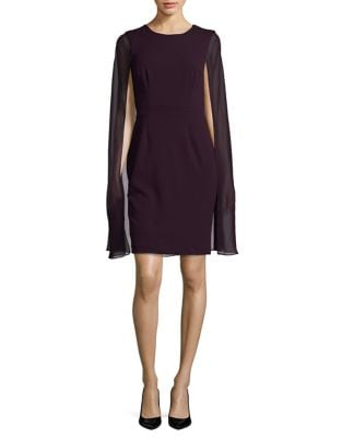Cape Sheath Dress by Calvin Klein
