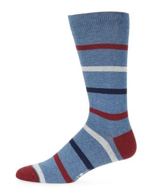 Four-Tone Stripe Socks...