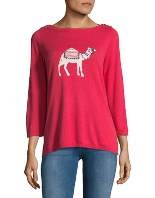 Camel Knitted Sweater...