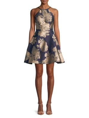 Halterneck A-line Dress by Blondie Nites