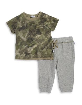 Little Boys Camouflage Tee and Joggers Set