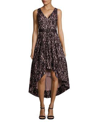 Hi-Lo Fit-&-Flare Sleeveless Dress by Eliza J